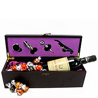 French Bordeaux Wine n Lindor Chocolates