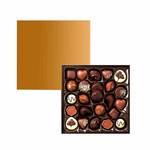 Royal Satin Box with 24pcs Nut Chocolates