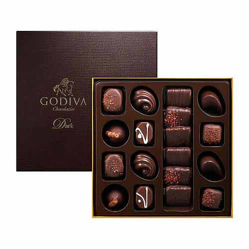 Blissful Godiva All-Dark Chocolate Gift Box