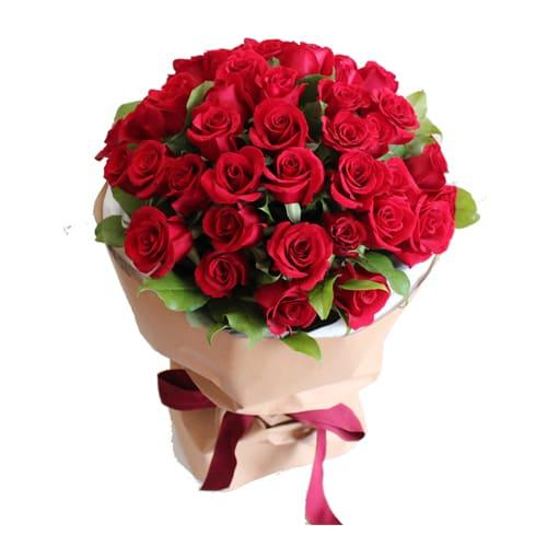 Eye-Catching Tender Love 50 Red Roses Bouquet