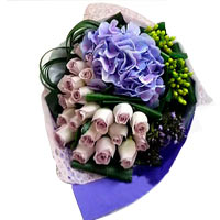 Beautiful Bouquet of Roses N <br>Hydrangea
