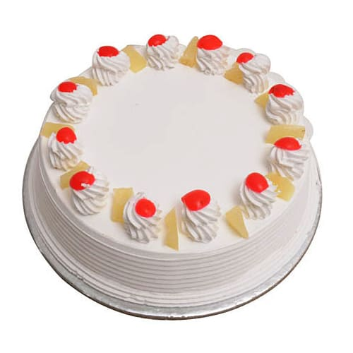 Scrumptious Round Fresh Fruit Cream Cake Filled with Happiness