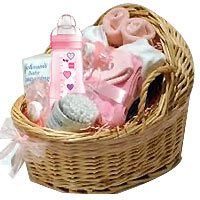 Extraordinary Baby Hamper Basket Filled with Happiness