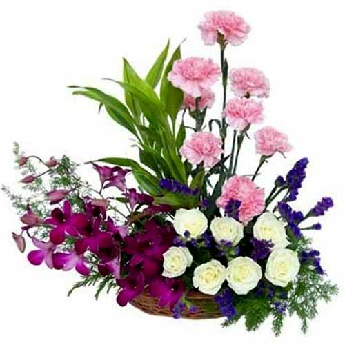 Exotic Flowers Arrangement to Hong Kong, Low Cost