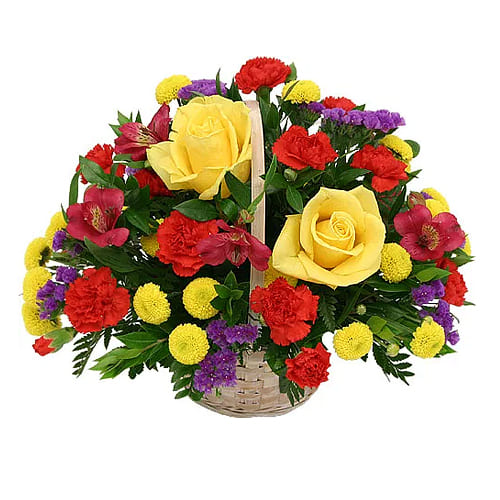 Magnificent and Vibrant Seasonal Flowers Bouquet