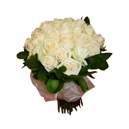 2 Dozen White/Creamy Rose