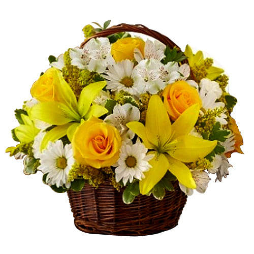 Exotic Seasonal Flowers Bouquet with Happiness