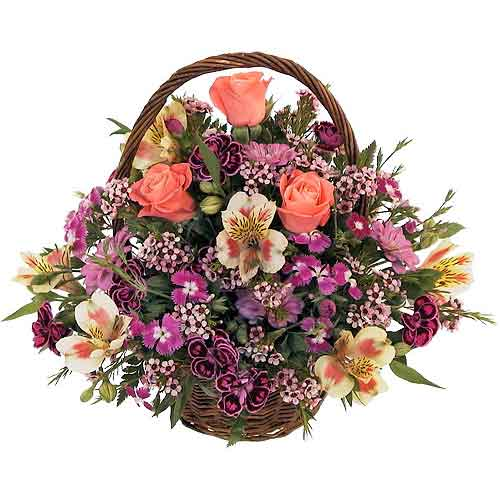 Precious Arrangement of Seasonal Flowers with Love