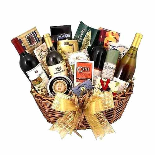 Attractive Gourmet Hamper with Premium Products for Special Occasions