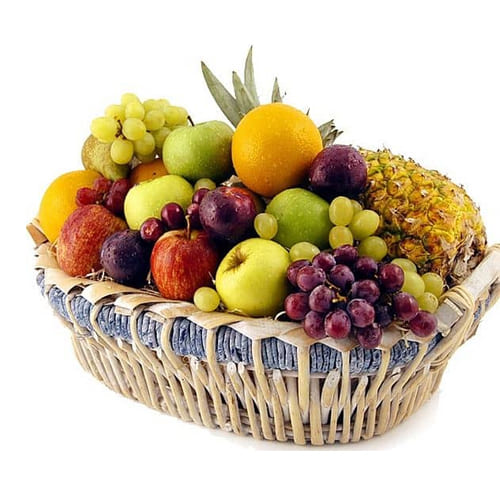 Flavorful Fresh Fruits Hamper with Warm Love