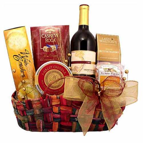 Heavenly Small Wine and Gourmet Hamper with Best WishesFloristshop_CausewayBay Delivery