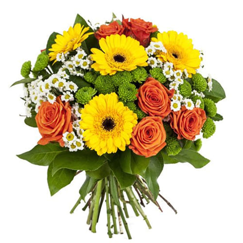 Exclusive Seasonal Flowers Bouquet With Heartfelt Wishes