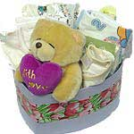 Sophisticated Wishing You Happiness New Born Gift Hamper