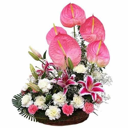 Exclusive Flowers Arrangement with Love