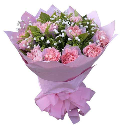 Pretty Pink Carnation Flower Bouquet