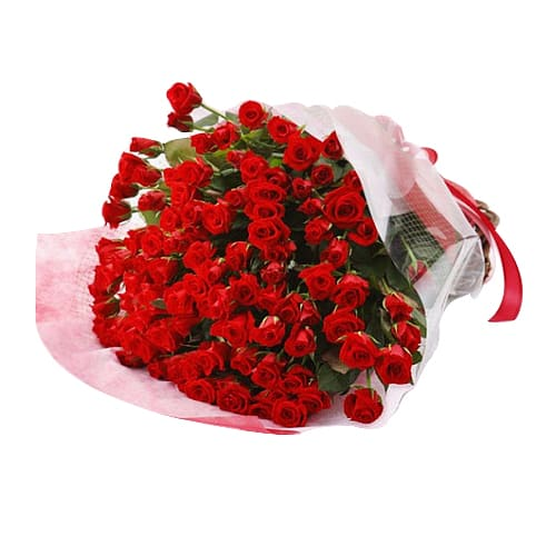 99 American Red Roses Bouquet