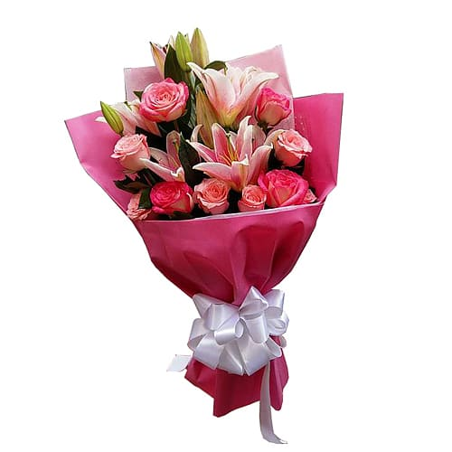 Exquisite Love Treasure Bouquet of Lilies and Spring Flowers