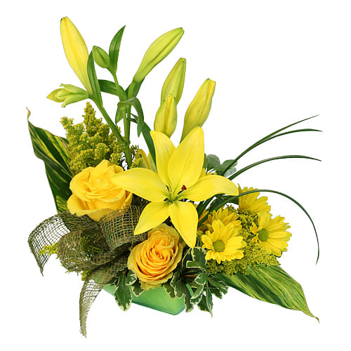 Classic Arrangement of Bright Flowers