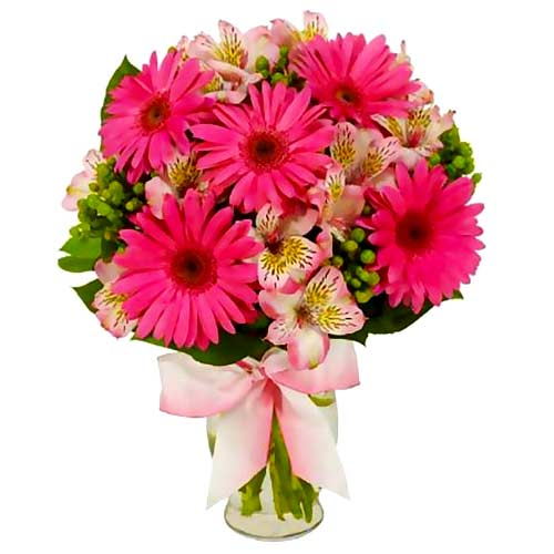 Eye-Catching Authentic Love 5 pcs of Gerbera Bouquet