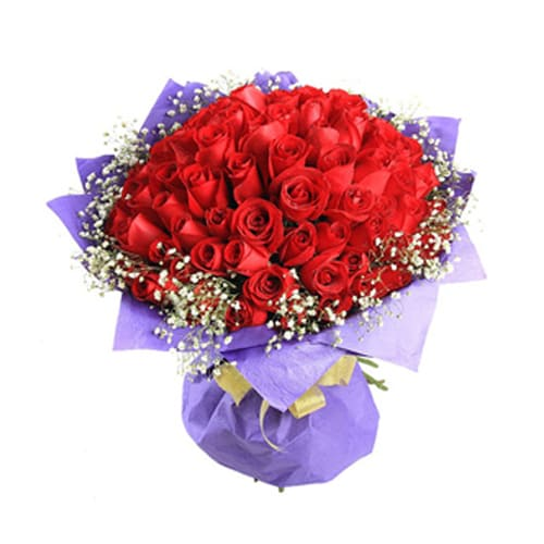 Lovely Bouquet of 99 Long Stemmed Roses
