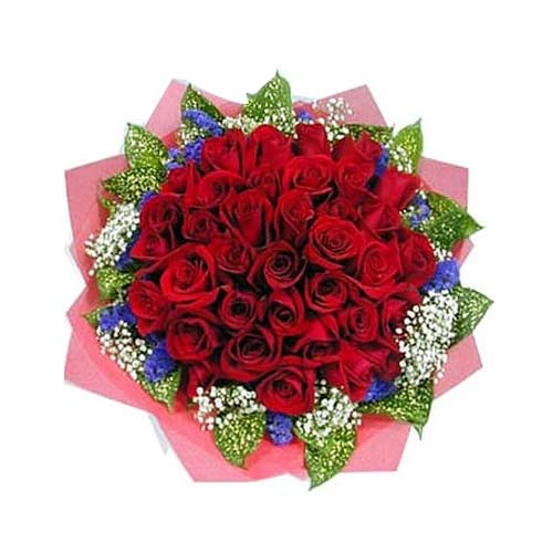 Blossoming 24 Red Roses Bouquet