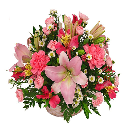 Sunshine Seasonal Flowers Basket