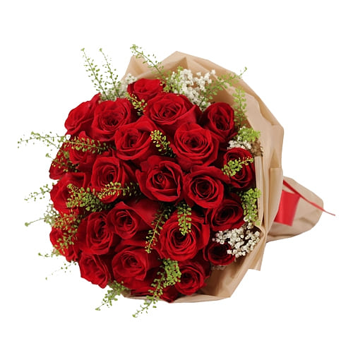 Classic Bouquet of 36 Red Roses